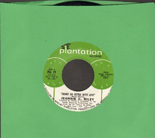 Riley, Jeannie C. - Things Go Better With Love/The Back Side Of Dallas - NM9/ - 45 rpm Records