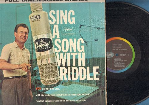 Riddle, Nelson - Sing A Song With Riddle - You are the solo star!: The More I See You, Fools Rush In, You Make Me Feel So Young (vinyl STEREO LP record, gate-fold cover with sheet music song book!) - NM9/EX8 - LP Records