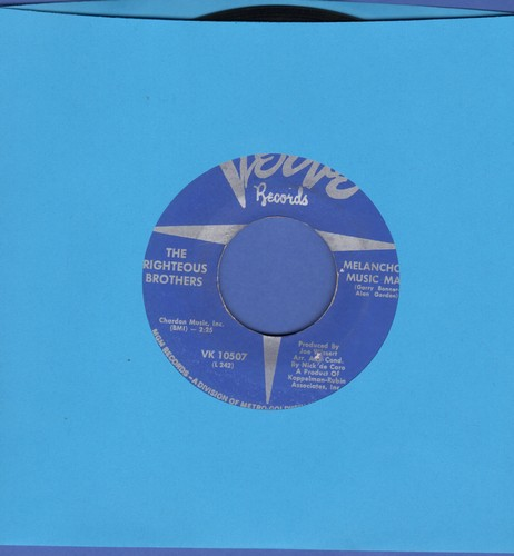 Righteous Brothers - Melancholy Music Man/Don't Give Up On Me - NM9/ - 45 rpm Records