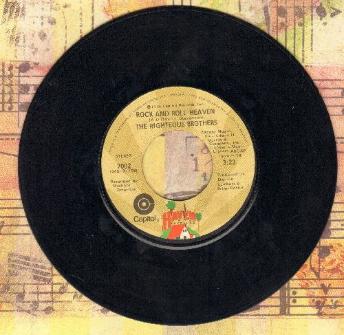 Righteous Brothers - Rock And Roll Heaven/I Just Wanna Be Me  - VG7/ - 45 rpm Records