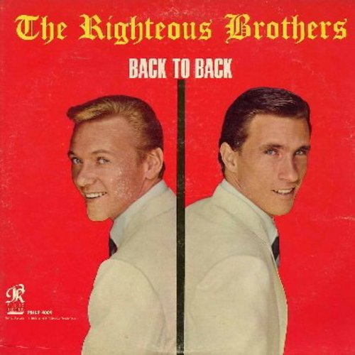 Righteous Brothers - Back To Back: Ebb Tide, God Bless The Child, For Sentimental Reasons, White Cliffs Of Dover, Hung On You, Hallelujah I Love Her So (Vinyl LP record) - NM9/EX8 - LP Records