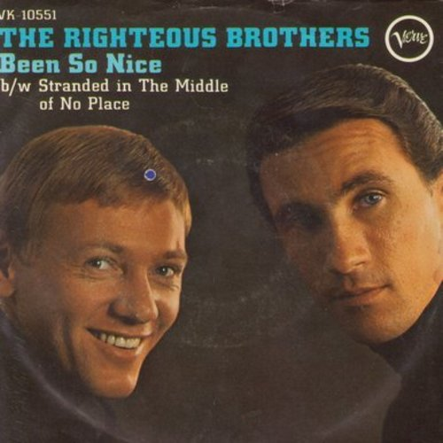 Righteous Brothers - Stranded In The Middle Of Nowhere/Been So Nice (with picture sleeve) (bb) - NM9/EX8 - 45 rpm Records