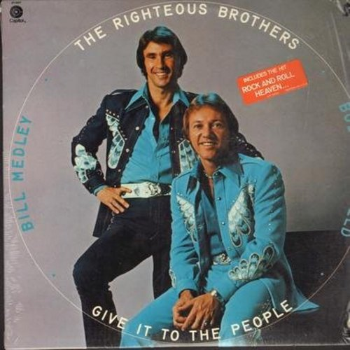 Righteous Brothers - Give It To The People: Rock And Roll Heaven, Dream On, Together Again, I Just Wanna Be Me (Vinyl STEREO LP record) - NM9/EX8 - LP Records