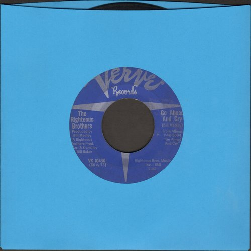 Righteous Brothers - Go Ahead And Cry/Thing's Didn't Go Your Way (bb) - EX8/ - 45 rpm Records