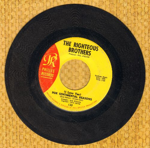 Righteous Brothers - Ebb Tide/For Sentimental Reasons  - EX8/ - 45 rpm Records