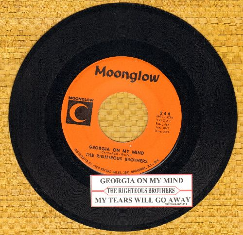 Righteous Brothers - Georgia On My Mind/My Tears Will Go Away (with kuke box label) - EX8/ - 45 rpm Records