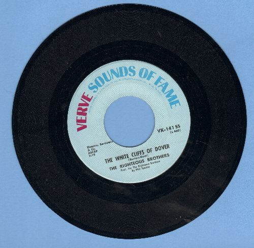 Righteous Brothers - The White Cliffs Of Dover/Just Once In My Life (double-hit re-issue) - NM9/ - 45 rpm Records