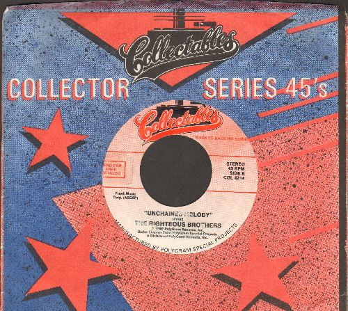Righteous Brothers - Unchained Melody/You've Lost That Lovin' Feeling (double-hit re-issue) - NM9/ - 45 rpm Records