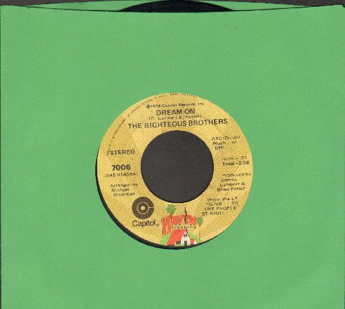 Righteous Brothers - Dream On/Dr. Rock And Roll  - EX8/ - 45 rpm Records