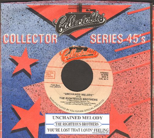 Righteous Brothers - Unchained Melody/You've Lost That Lovin' Feeling (double-hit re-issue with juke box label and company sleeve) - EX8/ - 45 rpm Records