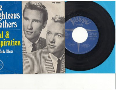 Righteous Brothers - Soul & Inspiration/B Side Blues (with picture sleeve) - VG7/VG7 - 45 rpm Records