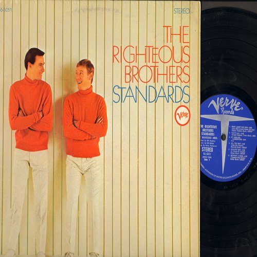 Righteous Brothers - Standards: That's All, Secret Love, Somewhere, All The Way, That Lucky Old Sun (Vinyl STEREO LP record) - EX8/EX8 - LP Records