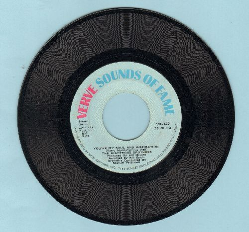 Righteous Brothers - You're My Soul And Inspiration/Little Latin Lupe Lu (re-issue) - NM9/ - 45 rpm Records