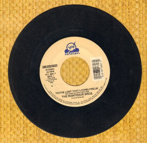Righteous Brothers - You've Lost That Lovin Feelin'/(You're My) Sould And Inspiration (double-hit re-issue) - EX8/ - 45 rpm Records