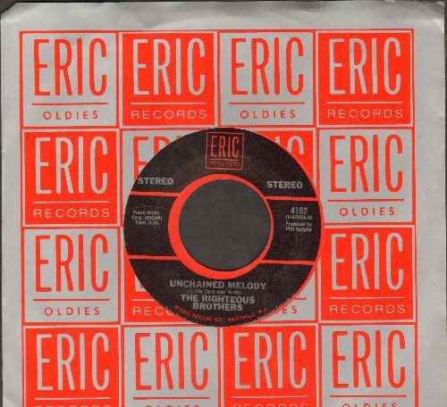 Righteous Brothers - Unchained Melody/Just Once In My Life (double-hit re-issue) - NM9/ - 45 rpm Records