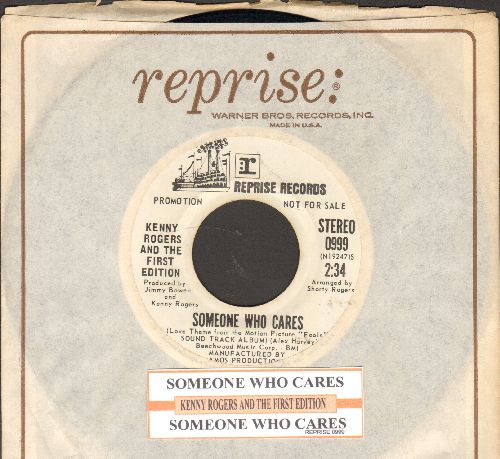 Rogers, Kenny & The First Edition - Someone Who Cares (double-A-sided DJ advance pressing with juke box label and Reprise company sleeve) - NM9/ - 45 rpm Records
