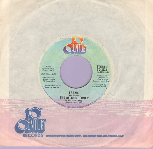 Ritchie Family - Brazil/Hot Trip (with 20th Century company sleeve) - NM9/ - 45 rpm Records