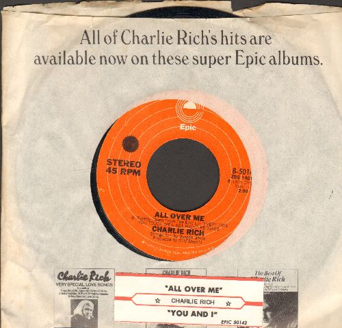 Rich, Charlie - All Over Me/You And I (with juke box label and Epic company sleeve) - NM9/ - 45 rpm Records