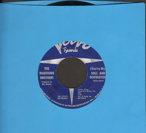 Righteous Brothers - You're My Soul And Inspiration/B Side Blues  - VG7/ - 45 rpm Records