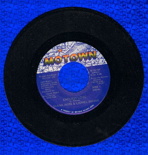 Ross, Diana & Lionel Richie - Endless Love/Endless Love (Instrumental) - VG7/ - 45 rpm Records