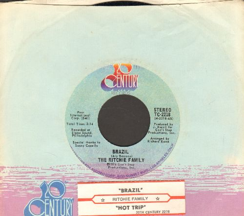 Ritchie Family - Brazil/Hot Trip (with juke box label and 20th Century company sleeve) - NM9/ - 45 rpm Records