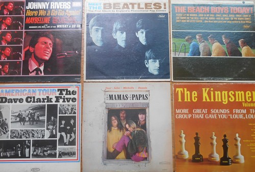 LP Cover 6-Pack - Set #22 includes 6 Vintage LP covers (NO records!) - Exactly as pictured, great for decoration or as replacement covers.  - VG7/ - Supplies