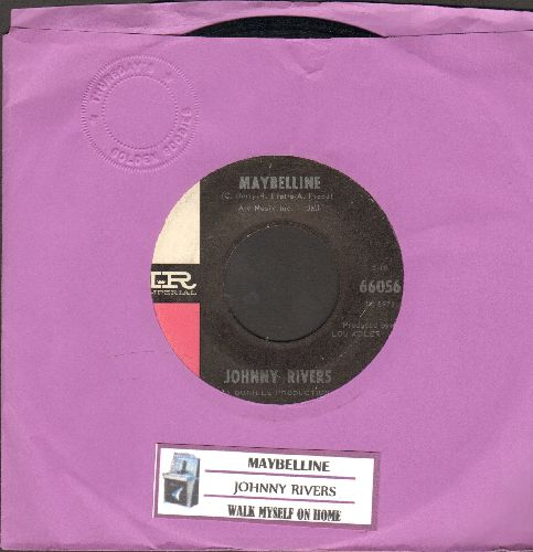 Rivers, Johnny - Maybelline/Walk Myself On Home (with juke box label) - EX8/ - 45 rpm Records