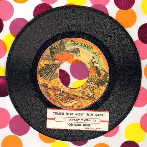 Rivers, Johnny - Swayin' To The Music (Slow Dancin')/Outside Help (with juke box label) - EX8/ - 45 rpm Records