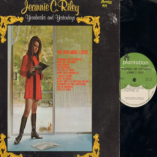 Riley, Jeannie C. - Yearbook Of Yesterdays: My Scrapbook, The Girl Most Likely, Back To School, Box Of Memoires, Teardrops On Page Forty-Three (Vinyl STEREO LP record) - EX8/VG7 - LP Records