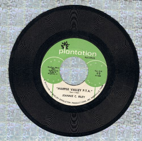 Riley, Jeannie C. - Harper Valley P.T.A. (Juke Box Favorite!)/Yesterday All Day Long Today  - EX8/ - 45 rpm Records