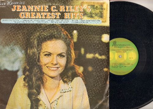 Riley, Jeannie C. - Greatest Hits: Harper Valley P.T.A., The Bak Side Of Dallas, The Girl Most Likely, The Rib, My Man (Vinyl STEREO LP record) - NM9/VG6 - LP Records