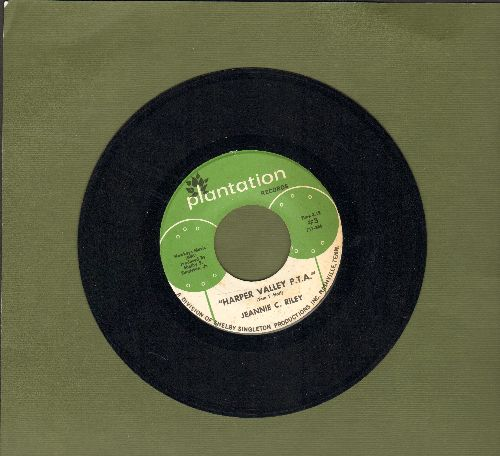 Riley, Jeannie C. - Harper Valley P.T.A. (Juke Box Favorite!)/Yesterday All Day Long Today  - NM9/ - 45 rpm Records