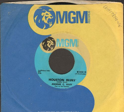 Riley, Jeannie C. - Houston Blues'/How Hard I'm Trying (with MGM company sleeve) - VG7/ - 45 rpm Records