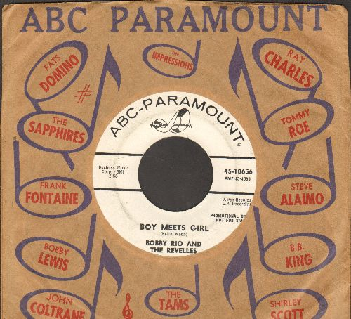 Rio, Bobby & The Revelles - Boy Meets Girl/Don't Break My Heart And Run Away (DJ advance pressing with vintage ABC-Paramount company sleeve) - NM9/ - 45 rpm Records