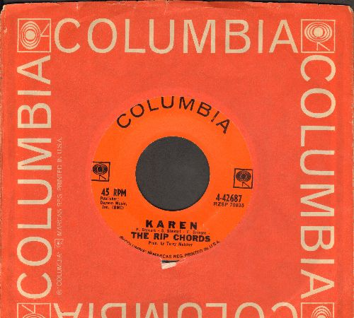 Rip Chords - Karen/Here I Stand (with Columbia company sleeve) - EX8/ - 45 rpm Records