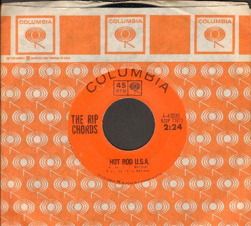 Rip Chords - Hot Rod U.S.A./Three Window Coupe (with RARE orange Columbia company sleeve) - EX8/ - 45 rpm Records