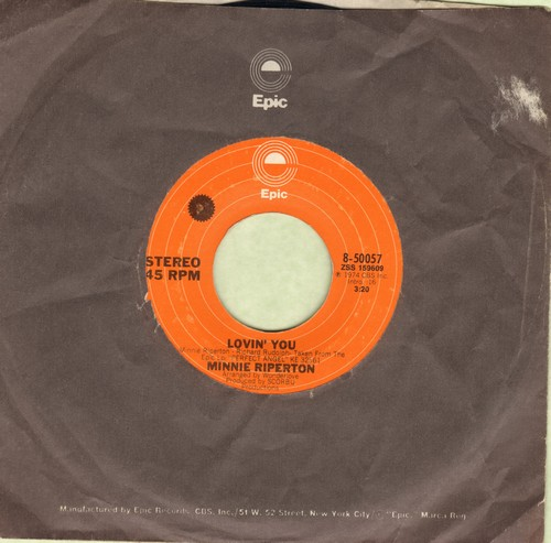 Riperton, Minnie - Lovin' You (Is Easy 'Cause You're Beautiful)/The Edge Of A Dream (with Epic company sleeve) - EX8/ - 45 rpm Records