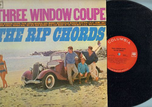 Rip Chords - Three Window Coupe: Gas Money, Hot Rod U.S.A., Surf City, zzzzbeach Girl, Surfin' Craze (vinyl Mono LP record) - EX8/EX8 - LP Records