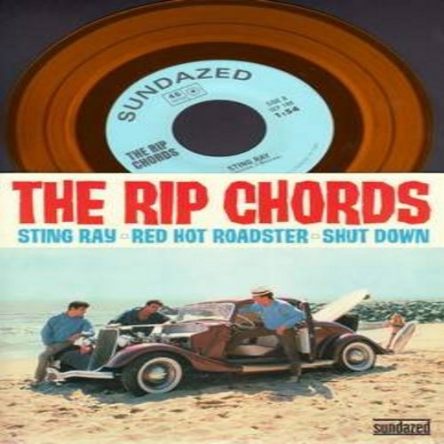 Rip Chords - Sting Ray/Red Hot Roadster/Shut Down (COLOR VINYL EP record with picture sleeve, authentic-looking re-issue) - M10/M10 - 45 rpm Records