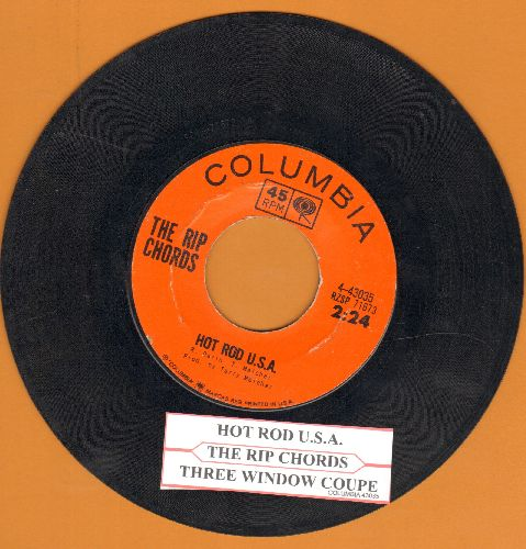 Rip Chords - Hot Rod U.S.A./Three Window Coupe (with juke box label) - VG7/ - 45 rpm Records
