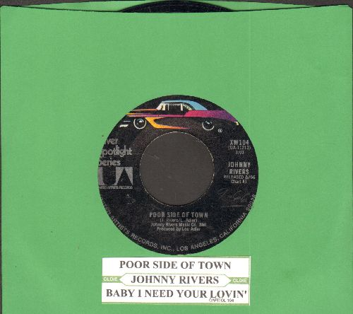 Rivers, Johnny - The Tracks Of My Tears/Summer Rain (MINT condition double-hit with juke box label) - M10/ - 45 rpm Records