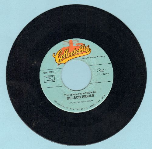 Riddle, Nelson & His Orchestra - Theme From -Route 66-/I Hear You Knocking (by Smiley Lewis on flip-side) (re-issue) - EX8/ - 45 rpm Records
