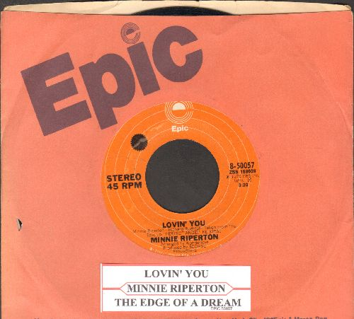 Riperton, Minnie - Lovin' You (Is Easy 'Cause You're Beautiful)/The Edge Of A Dream (with juke box label and Epic company sleeve) - EX8/ - 45 rpm Records