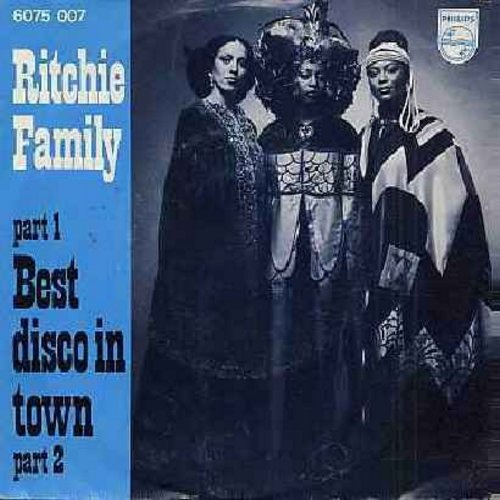 Ritchie Family - The Best Disco In Town (Parts 1+2) (German Pressing with picture sleeve) - M10/EX8 - 45 rpm Records