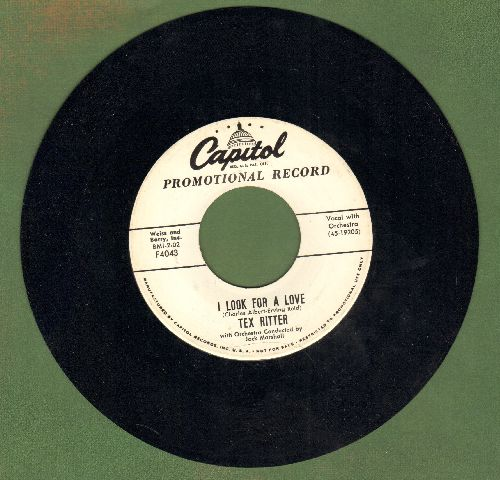 Ritter, Tex - The History Song/I Look For A Love (DJ advance pressing) - NM9/ - 45 rpm Records