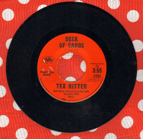 Ritter, Tex - Deck Of Cards/Conversation With A Gun (DJ advance pressing) (sol) - EX8/ - 45 rpm Records