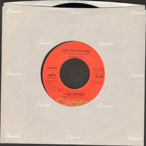 Ritter, Tex - The Americans/He Who Is Without Sin - NM9/ - 45 rpm Records