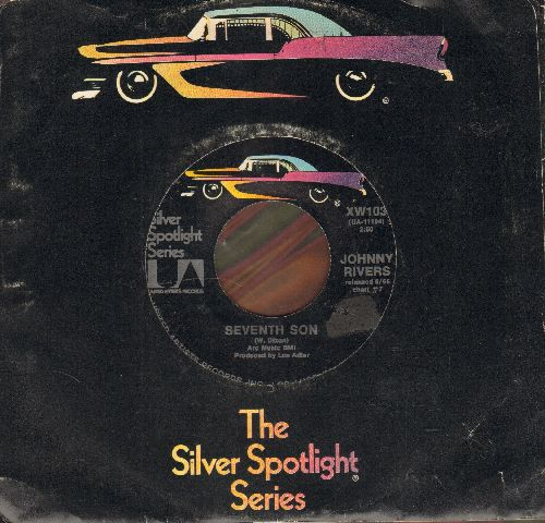 Rivers, Johnny - Midnight Special/Seventh Son (double-hit re-issue with company sleeve) - EX8/ - 45 rpm Records