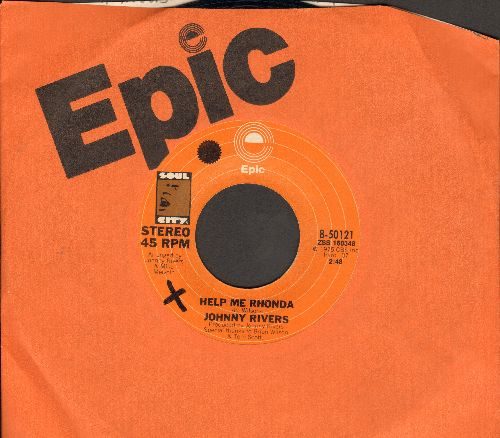 Rivers, Johnny - Help Me Rhonda/New Lovers And Old Friends (with Epic company sleeve) - EX8/ - 45 rpm Records