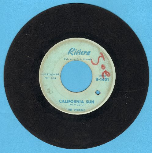 Rivieras - California Sun/H B Goose Step (bb, wol) - VG7/ - 45 rpm Records